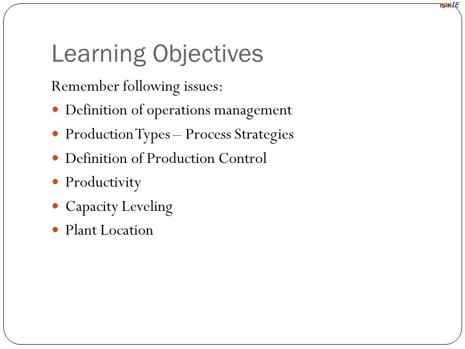 production planning and control definition