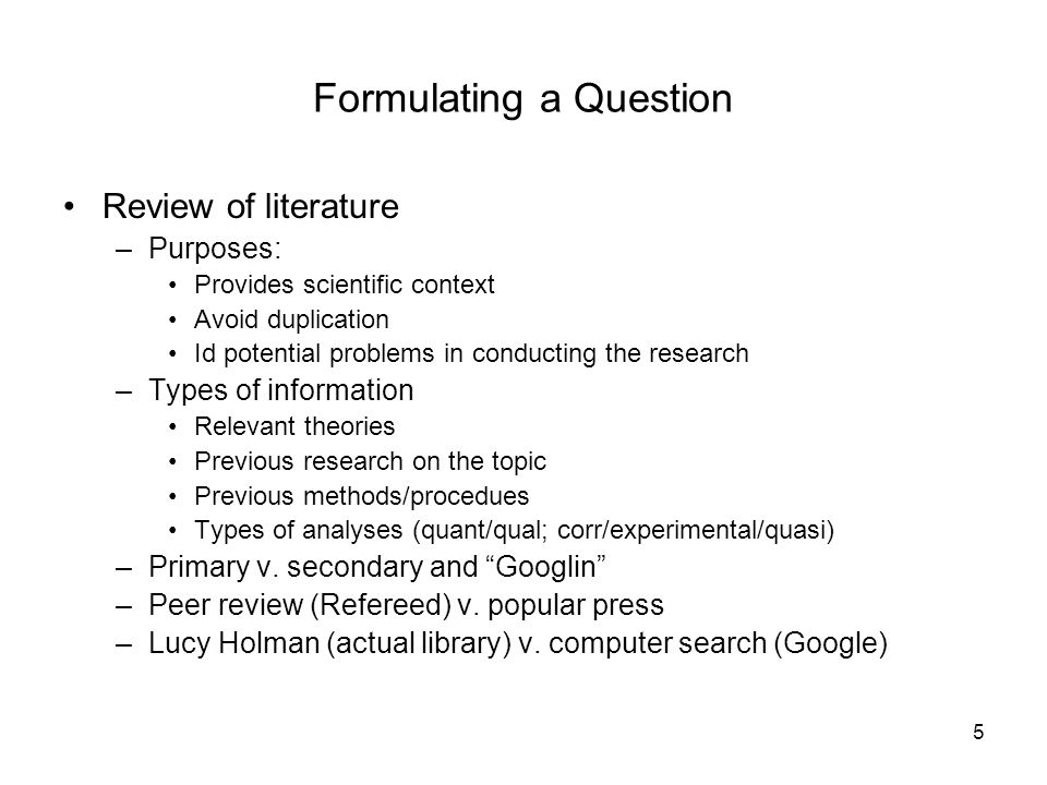 what is the value of a literature review in conducting research A literature review (also expressed as a review of the literature) is an overview of previous research on the author's topic or on an important aspect of the author's topic it identifies and describes and sometimes analyzes related research that has already been done and summarizes the state of knowledge about the topic.