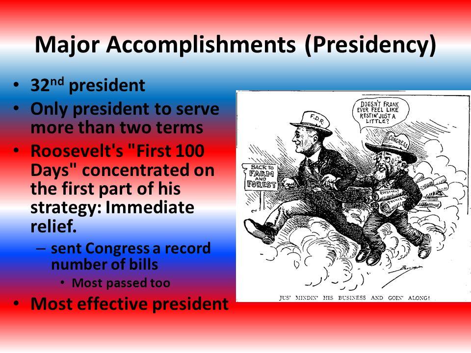 fdr achievements