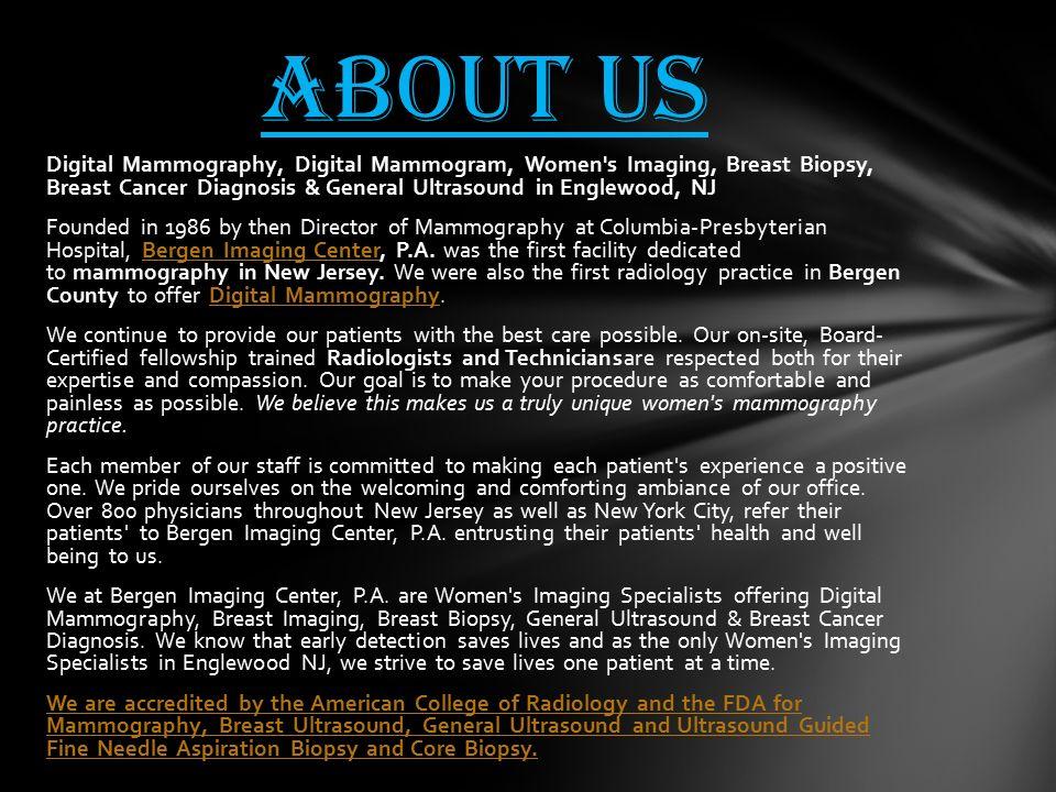 Mammography NJ digital mammography NJ women's imaging New Jersey