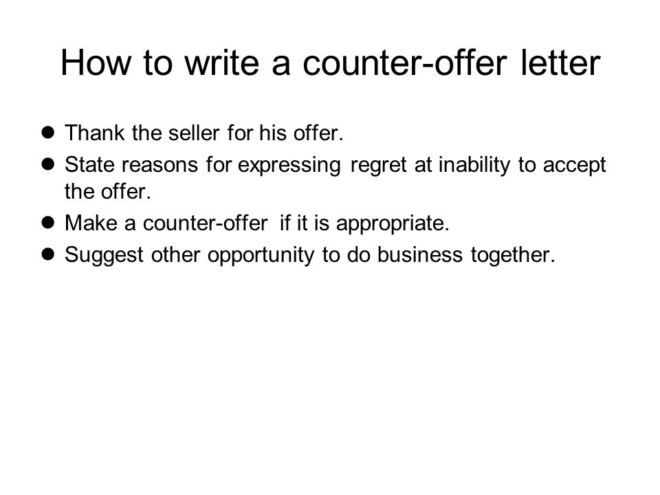 Chapter Four Quotations fers and Counter offers ppt