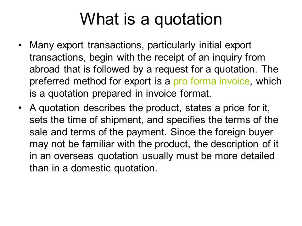 chapter four quotations offers and counter offers ppt download