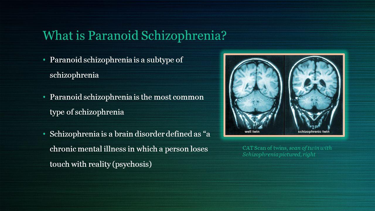 disorder presentation: paranoid schizophrenia by: constance