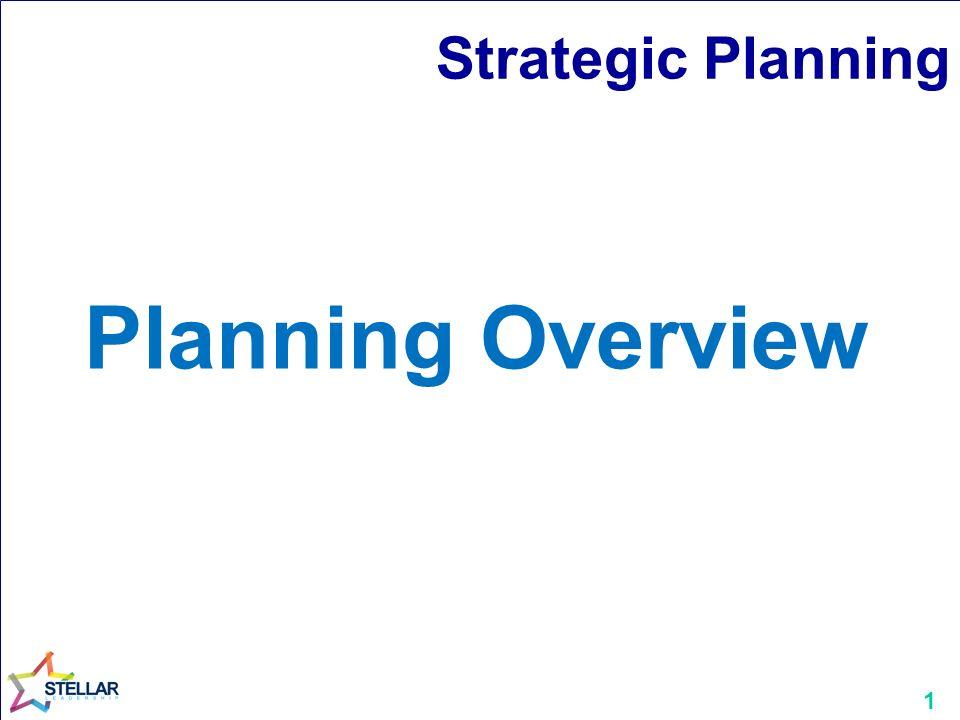 1 strategic planning planning overview 2 strategic plan business