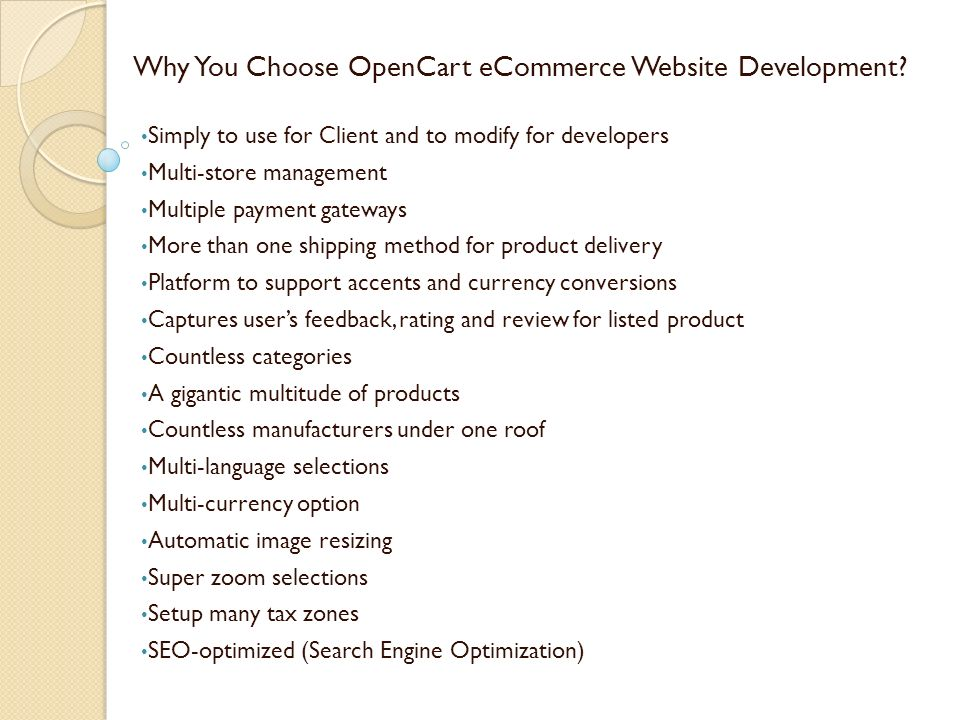 Opencart eCommerce Development India - ppt download