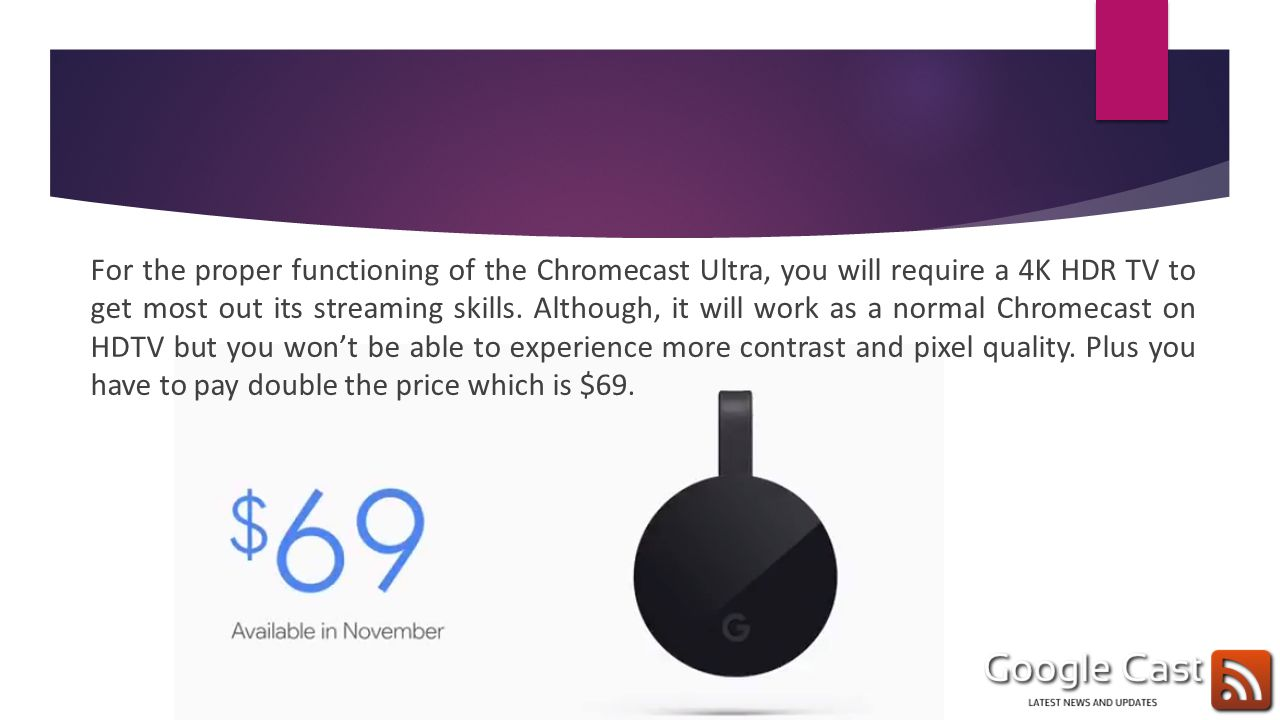 Chromecast is a tiny dongle which is Google's most successful