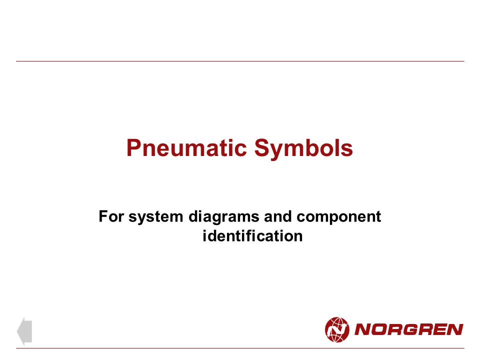 Pneumatic Symbols For System Diagrams And Component Identification