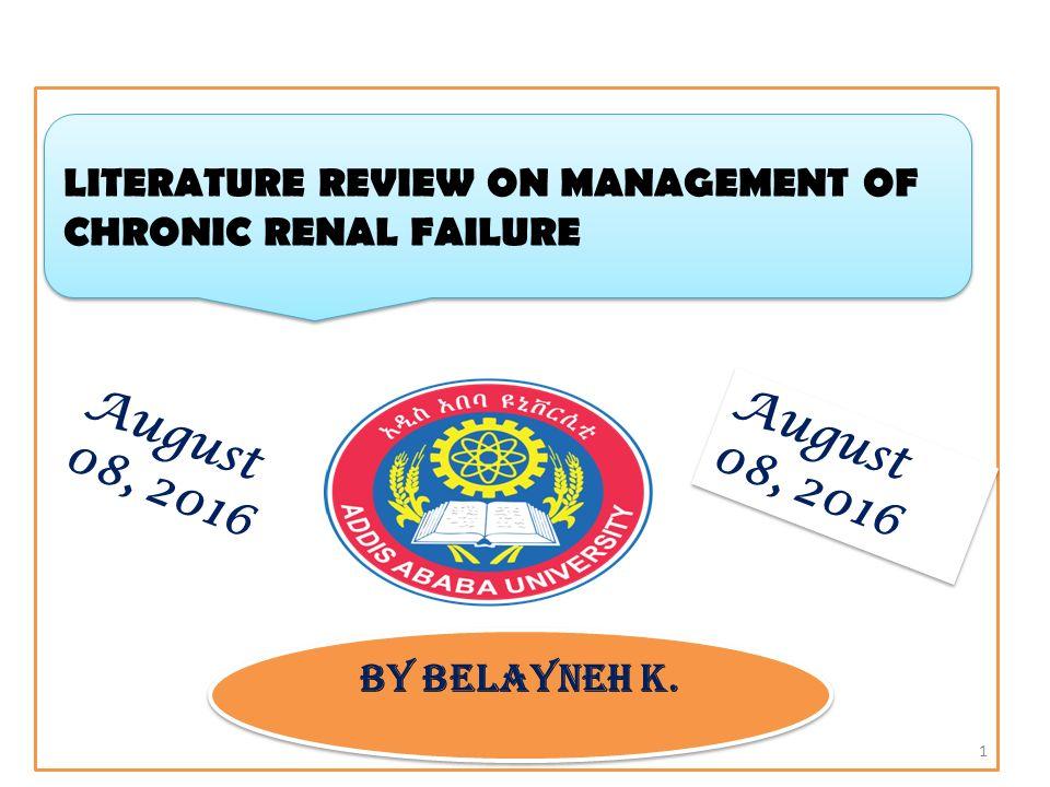 renal failure literature review
