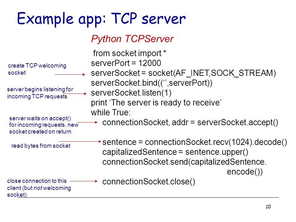 1 Socket Programming Socket Programming Overview –Socket