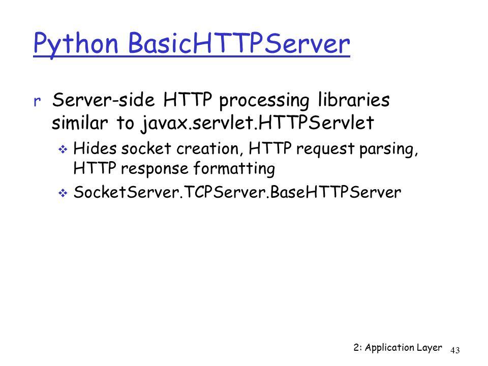 1 2: Application Layer Programming application protocols