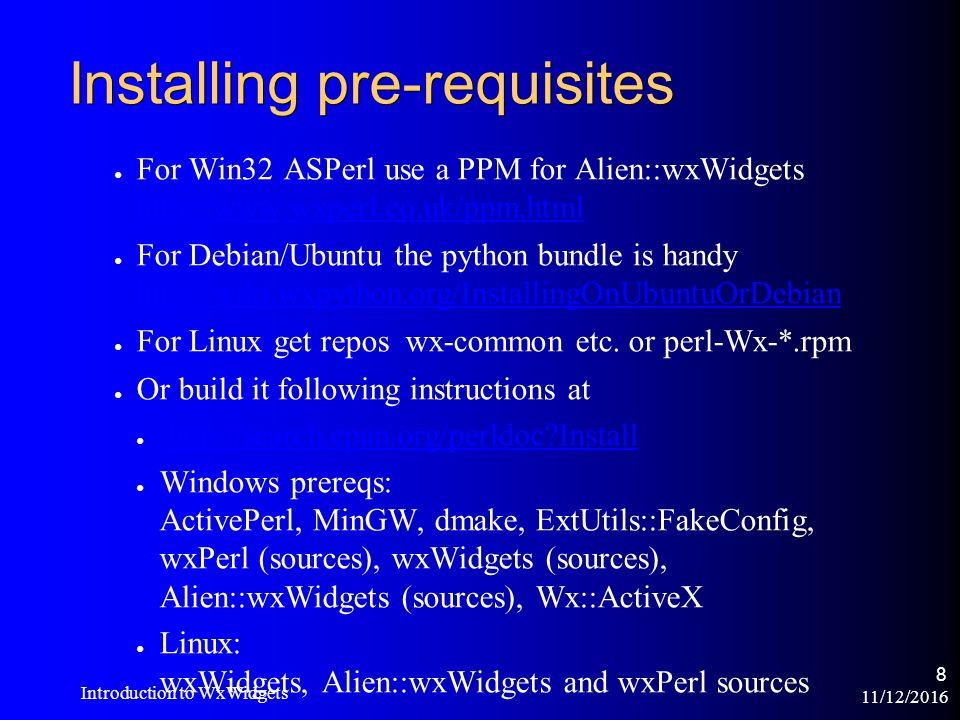 11/12/2016 Introduction to WxWidgets 1 Peter Edwards MiltonKeynes pm