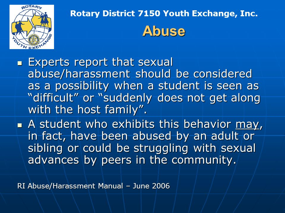 Rotary District 7150 Youth Exchange, Inc.