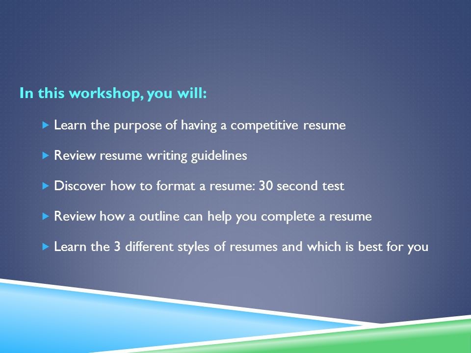 Resume Essentials Steps To Enhancing Your Resume Ppt Download