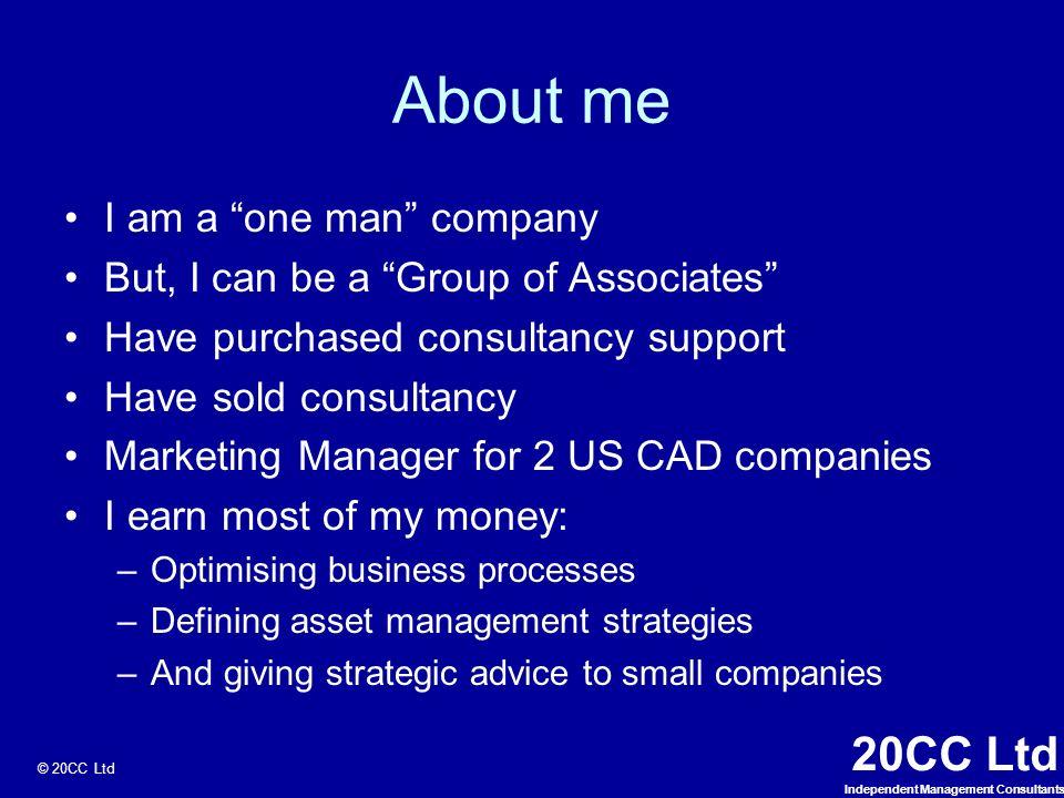 20cc Ltd 20cc Ltd Independent Management Consultants