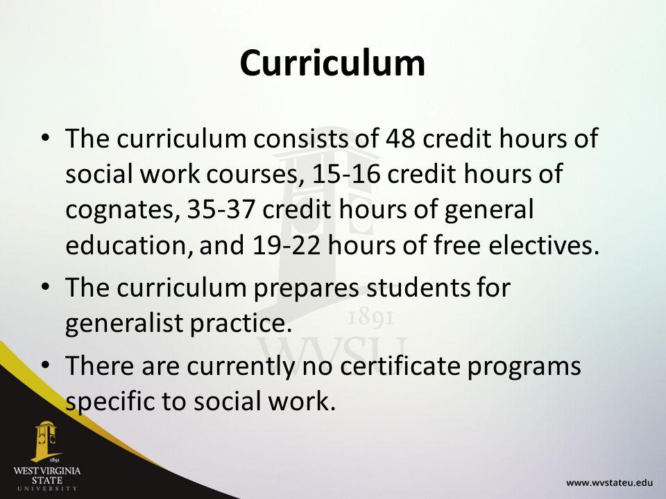 Department Of Social Work College Of Professional Studies Wvsu