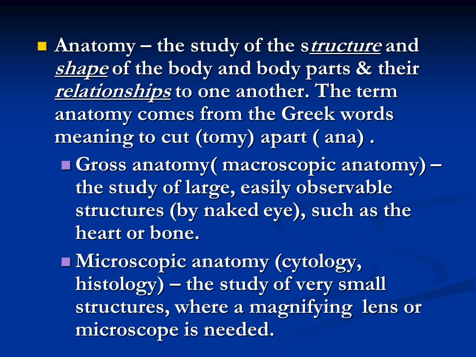 Introduction to Anatomy & Physiology. Course Description: It is an ...