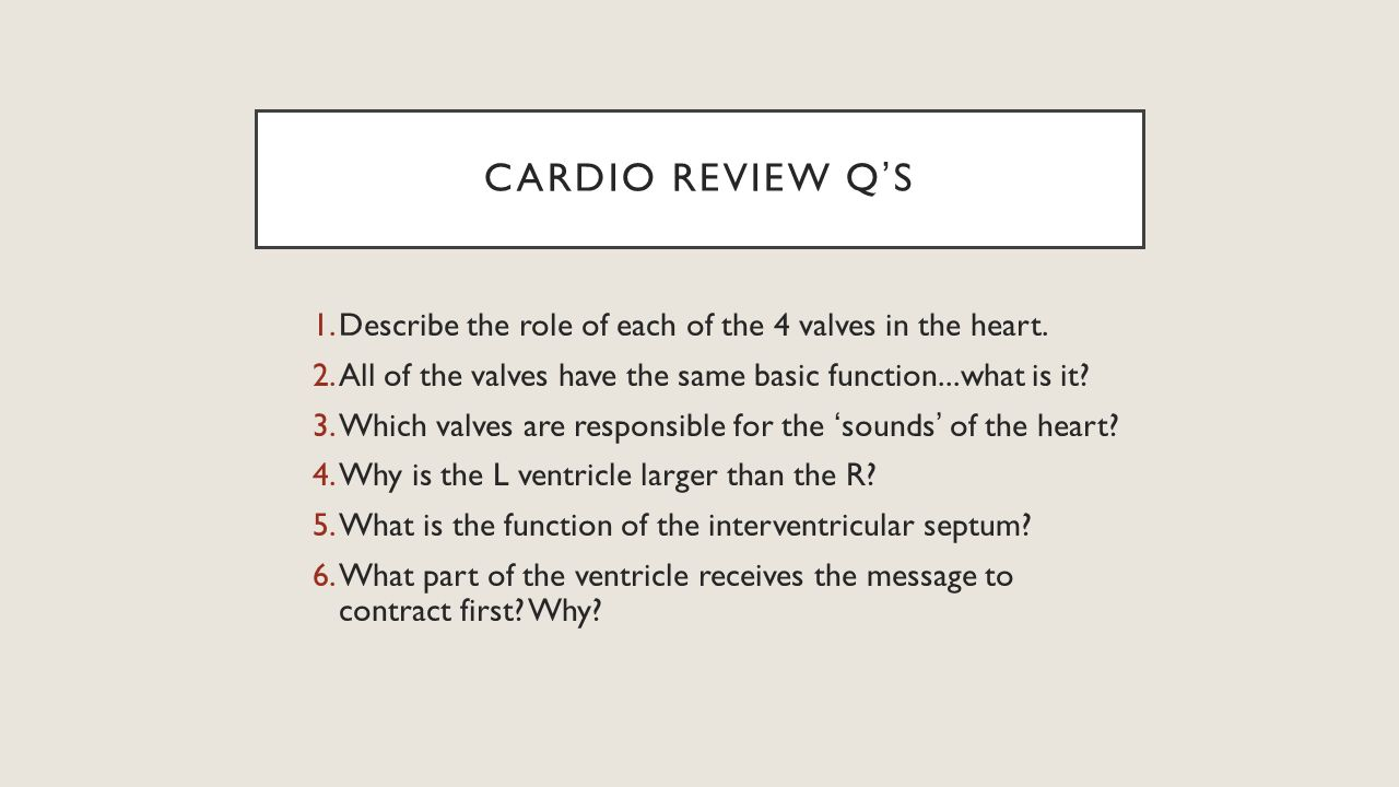 Cardiovascular System Physiology Topic 3 The Heart Ppt Download