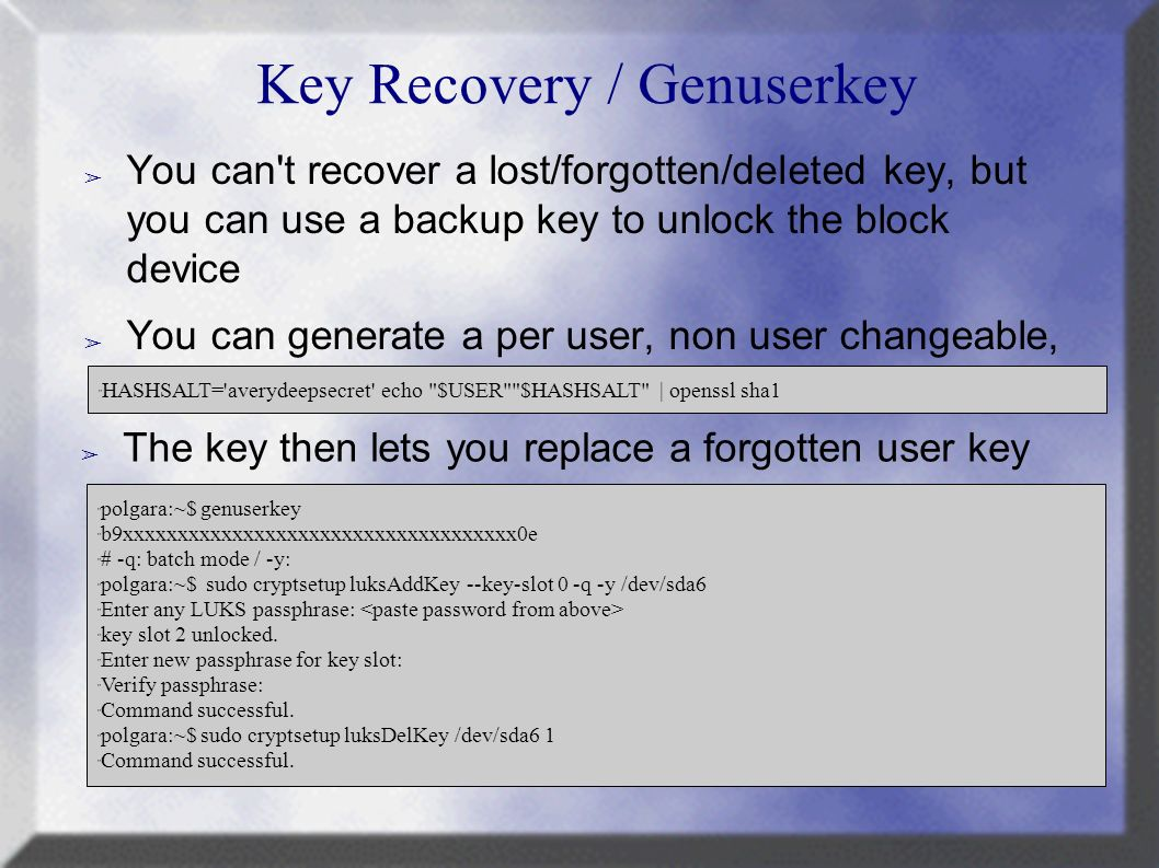 Disk Encryption on Linux Marc MERLIN LCA ppt download