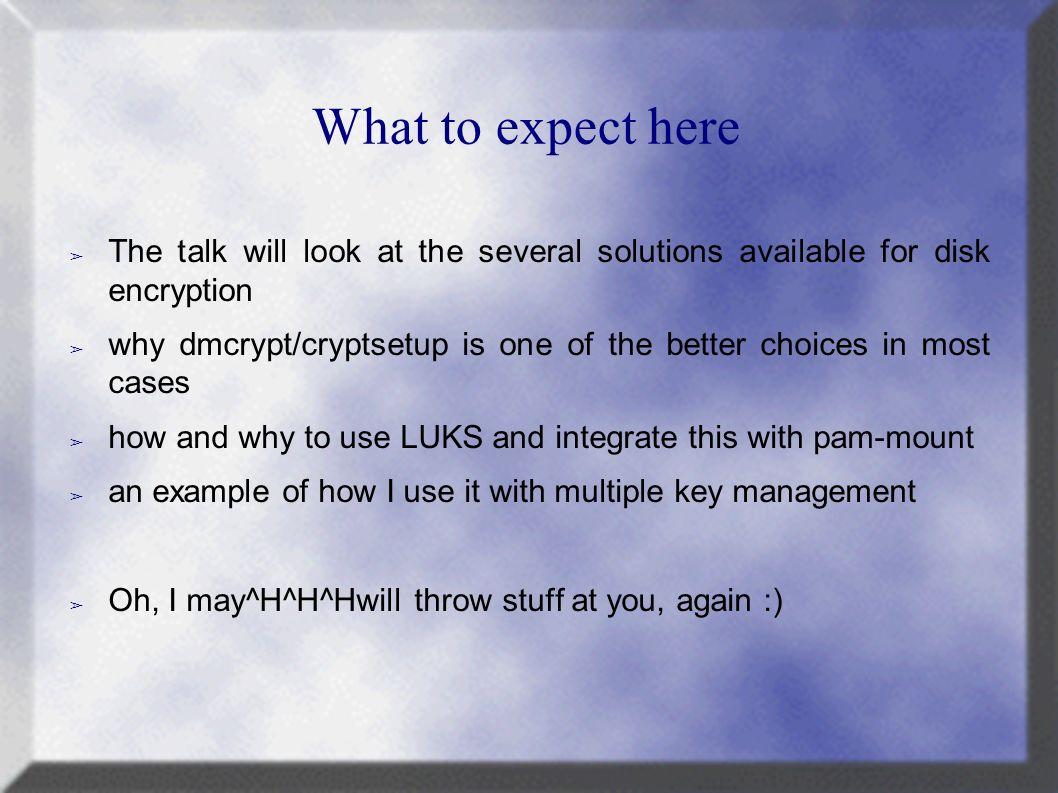 Disk Encryption on Linux Marc MERLIN LCA ppt download