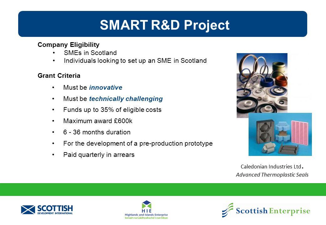 Funding R&D Projects SMART: SCOTLAND Programme - SMART Feasibility