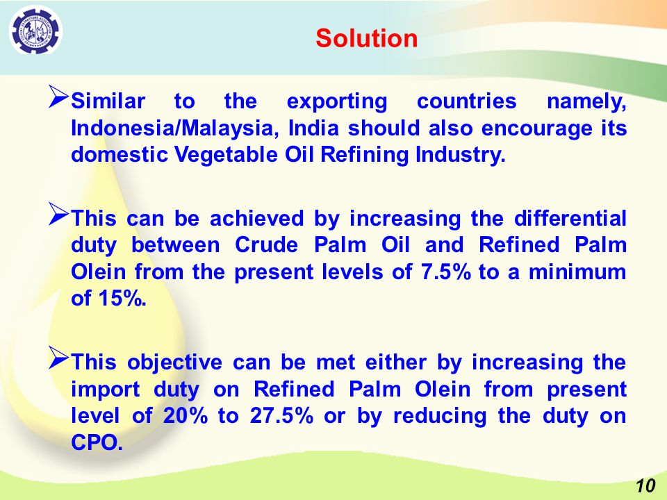 Challenges faced by Indian Crushing and Refining Industry and Way