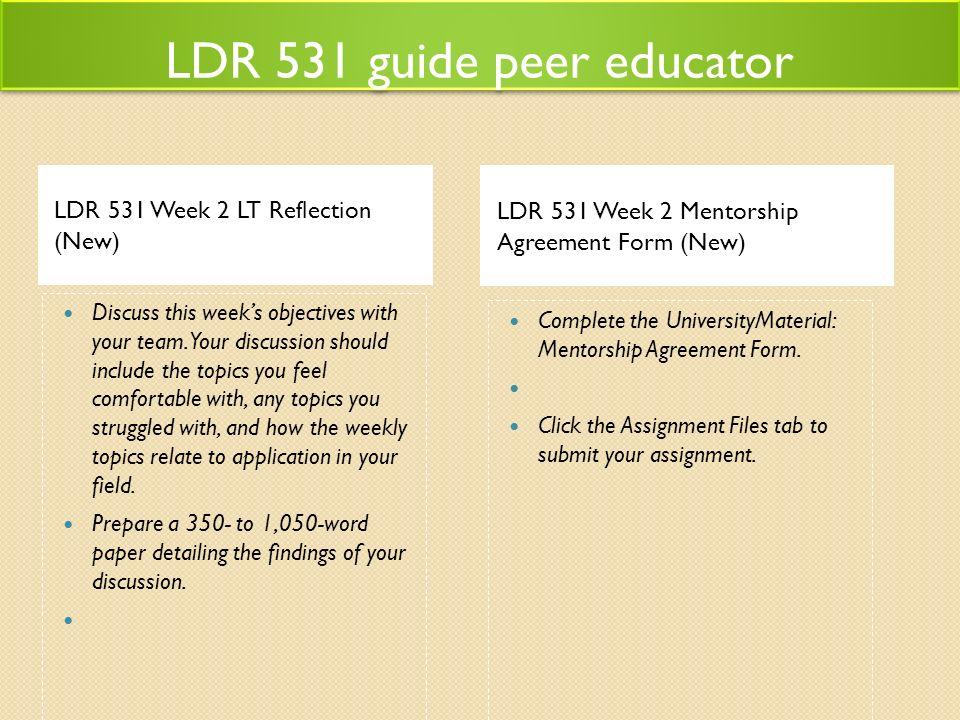 Ldr 531 Guide Peer Educator Acc455tutorsdotcom Ldr 531 Guide Peer