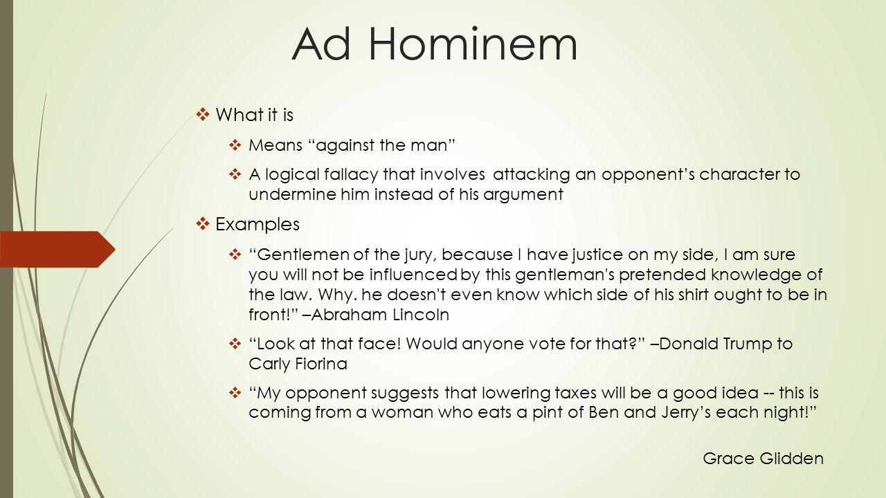 ad hominem donald trump