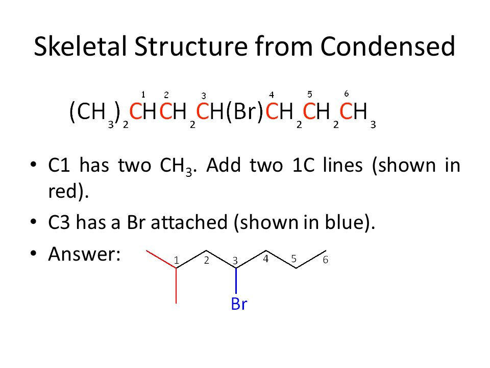 Converting Skeletal Structures to Condensed Formulas, and Vice Versa ...