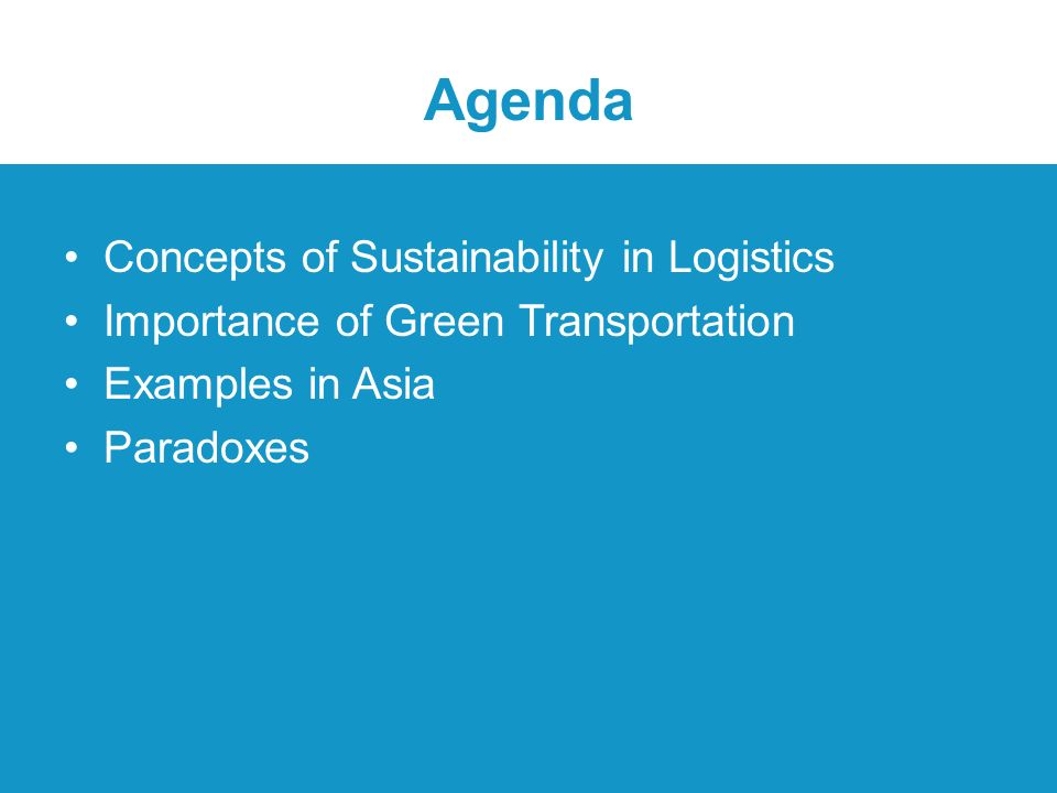 Green Logistics & Freight Transport Asso Prof  Sathaporn