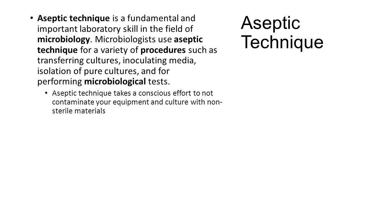importance of aseptic technique in laboratory