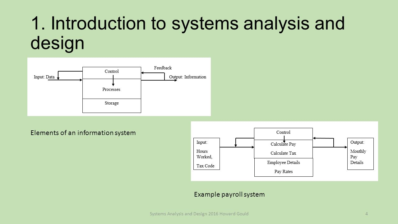Systems Analysis And Design Howard Gould Systems Analysis And Design C 2016 Howard Gould1 Ppt Download