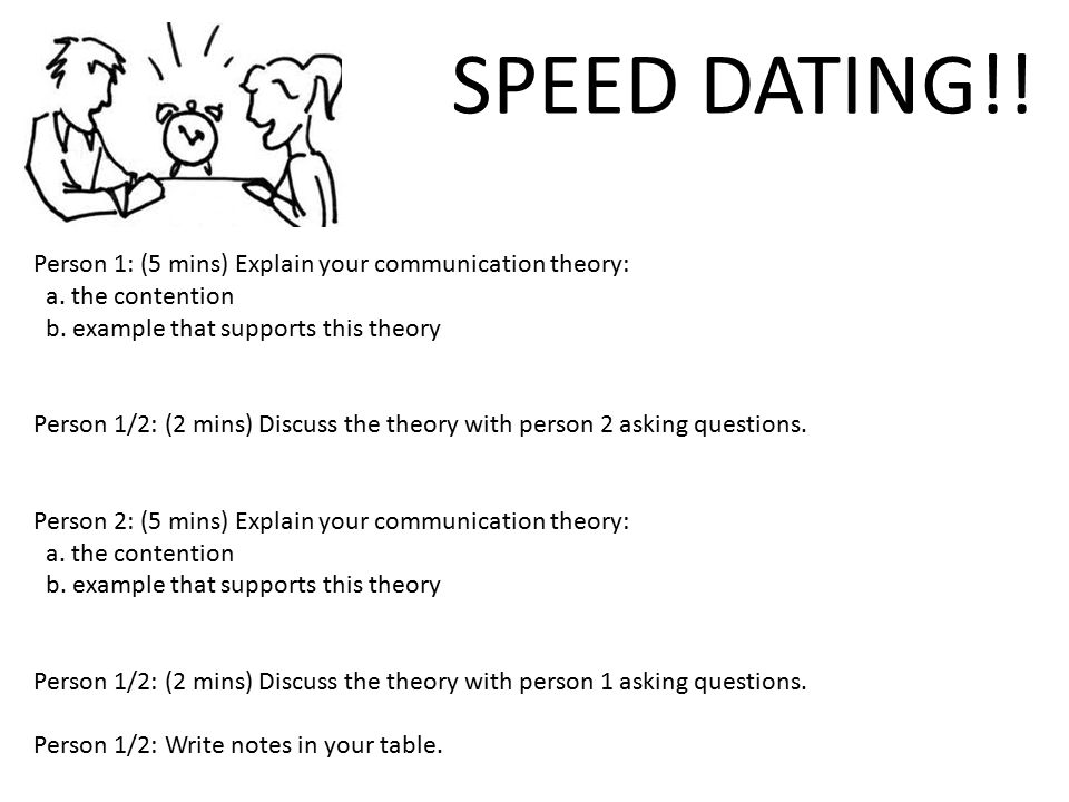 Example speed dating questions