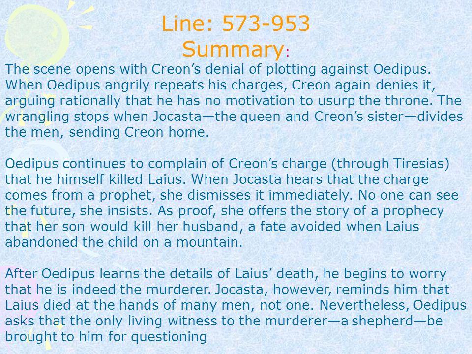oedipus story summary
