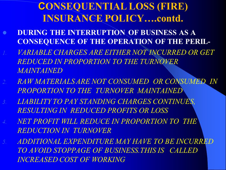 Fire Lop Industrial All Risk Mega Risk Policies And