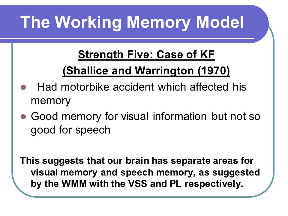 shallice & warrington 1970 kf case study