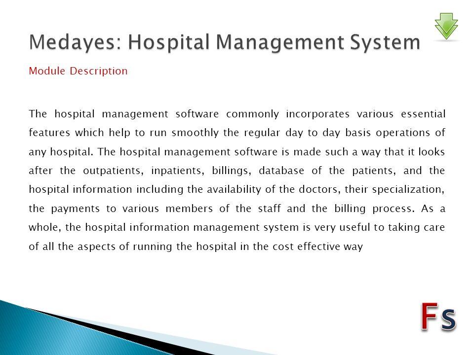 Medayes: Hospital Management System Hospital Management Reception