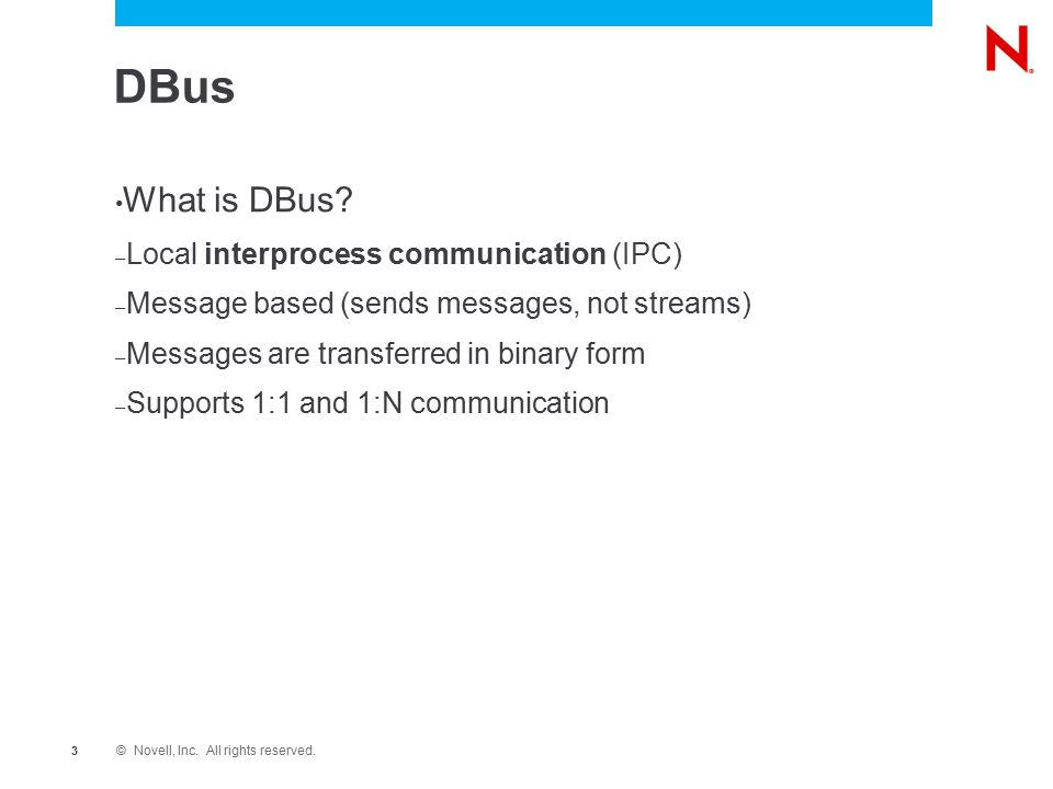 DBus, PolicyKit and YaST Modern Technologies in Linux Ing  Ladislav