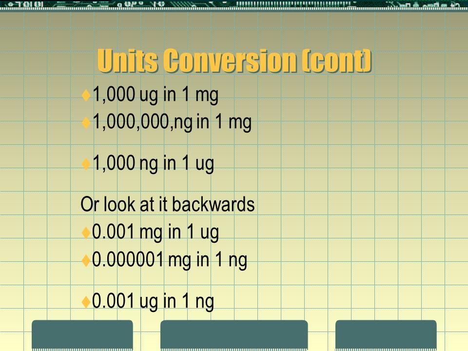 <p>2 Units Conversion ...</p>