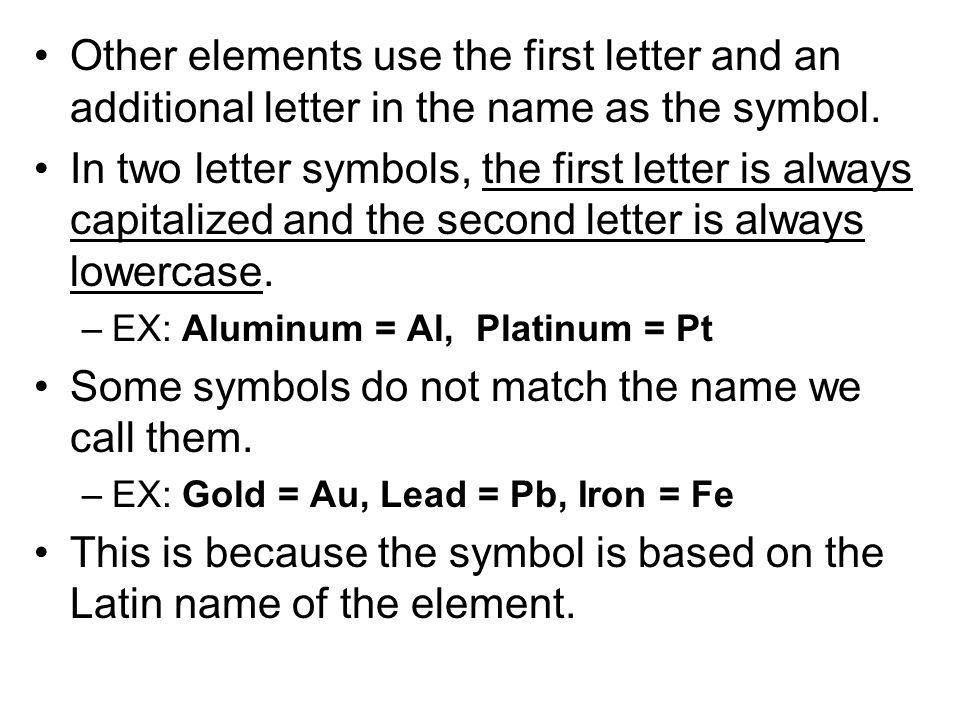 Chapter 71 Notes Atoms Are The Smallest Form Of Elements Ppt