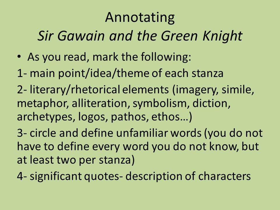 sir gawain and the green knight symbolism