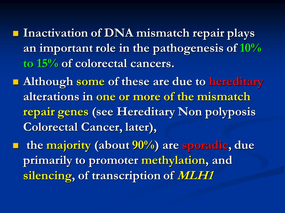 Carcinomas With Dna Mismatch Repair Deficiency Mohammad Hossein Sanei Mohammad Hossein Sanei Department Of Pathology Department Of Pathology Isfahan University Ppt Download