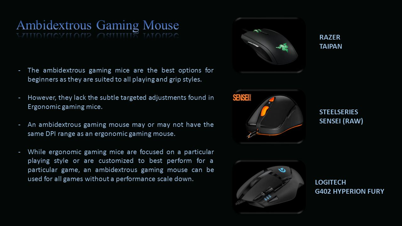 A Gaming Mouse Is The Most Popular Equipment Across World Razer Taipan Ambidextrous Mice Are Best Options For Beginners As They Suited To