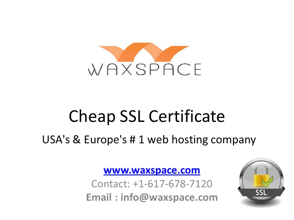 Cheap Ssl Certificate Usas Europes 1 Web Hosting Company