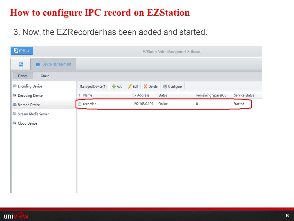 Use 1 How Ezstreamer 2 Uniview Configure To Product-smb