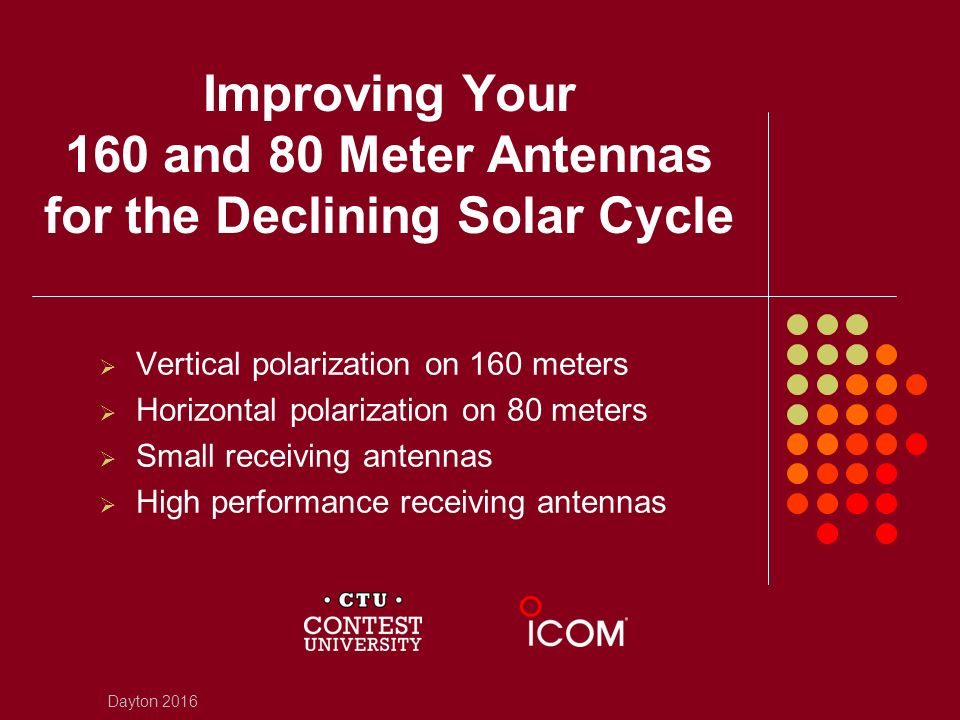 Improving Your 160 and 80 Meter Antennas for the Declining