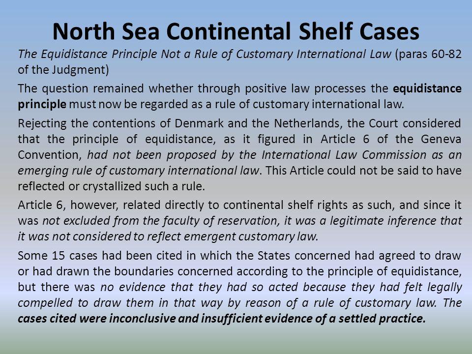 aegean sea continental shelf case summary