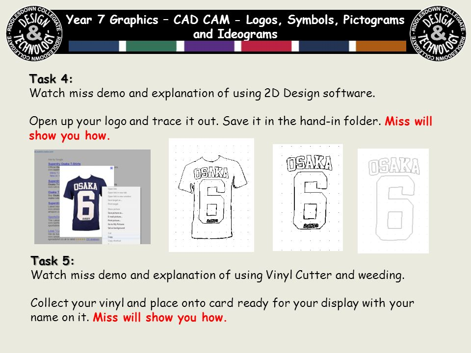 Year 7 Graphics Cad Cam Logos Symbols Pictograms And Ideograms