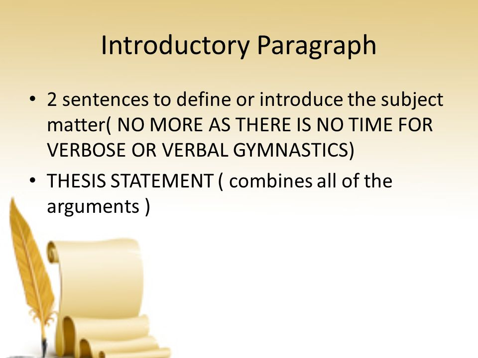 define thesis statement