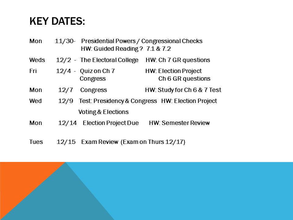 key dates mon 11 30 presidential powers congressional checks hw rh slideplayer com guided reading and review congress organizes Tour Guide