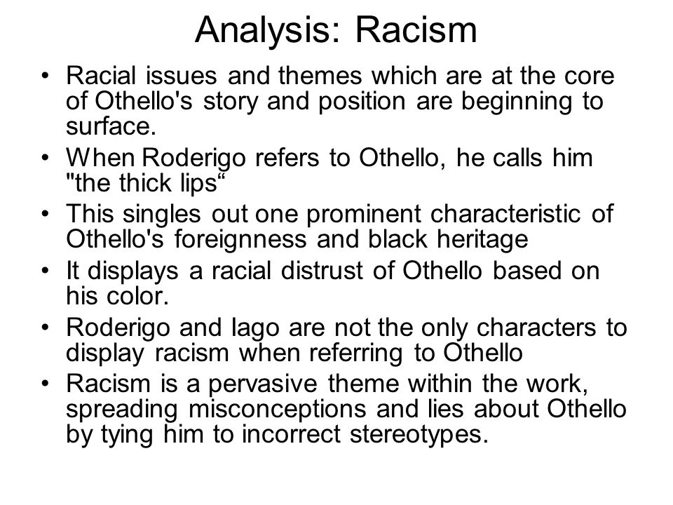 racist lines in othello